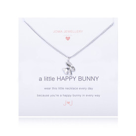 Joma Girls A LITTLE HAPPY BUNNY NECKLACE + Gift Bag/Tag