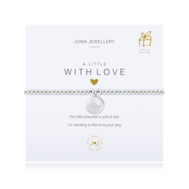 Joma A Little with Love Silver Plated Bracelet + Gift Bag/Tag