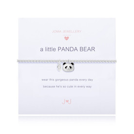 Joma Girls A LITTLE PANDA BEAR BRACELET + Gift Bag/Tag