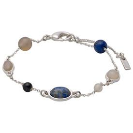 Pilgrim Morrigan Bracelet Silver  Plated Blue 201746202