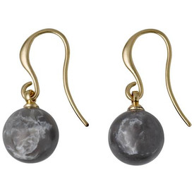 Pilgrim Iselda  Drop Earrings Gold Plated Grey 191732103