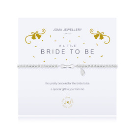 Joma Jewellery a little - BRIDE TO BE - bracelet + Gift Bag/Tag