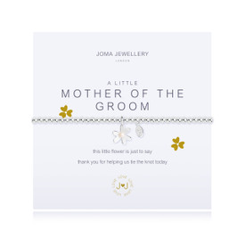 Joma Jewellery a little - MOTHER OF THE GROOM - bracelet  + Gift Bag/Tag