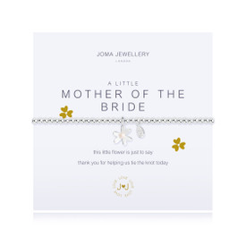 Joma Jewellery a little - MOTHER OF THE BRIDE - bracelet + Gift Bag/Tag