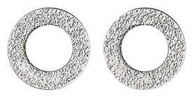 Pilgrim Hoop Stud Earrings Silver Plated 28132-6003