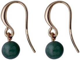 Pilgrim Drop Earrings Rose Gold Plated Green 281734463