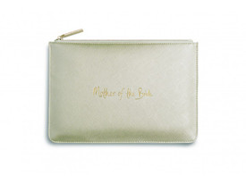 Katie Loxton 'Mother of the Bride' Perfect Pouch/Clutch Bag Metallic Gold
