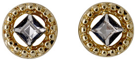 Pilgrim Stud Earrings Gold Plated 621812023