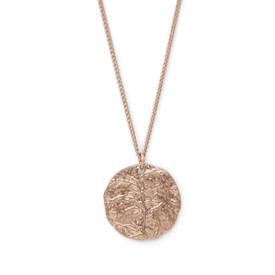 Pilgrim Angelina Necklace Rose Gold Plated 40+ 9cm