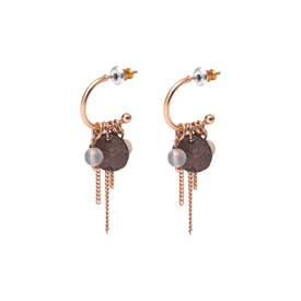 Pilgrim Angelina Drop Earrings Rose Gold Plated