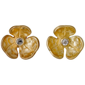 Pilgrim  Flower Stud Earrings Gold Plated 601632013