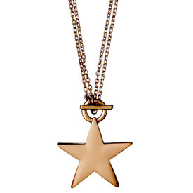 Pilgrim Ava Star Necklace Rose Gold Plated 45/90cm 611714001