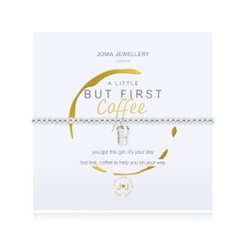 Joma Jewellery a little - BUT FIRST COFFEE - bracelet  + Gift Bag/Tag