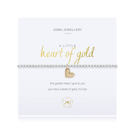 Joma Jewellery a little - HEART OF GOLD - bracelet  + Gift Bag/Tag