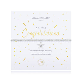 Joma Jewellery a little - CONGRATULATIONS  - bracelet  + Gift Bag/Tag