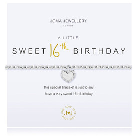 Joma A Little a little HAPPY SWEET 16TH BIRTHDAY  Bracelet + Gift Bag/Tag