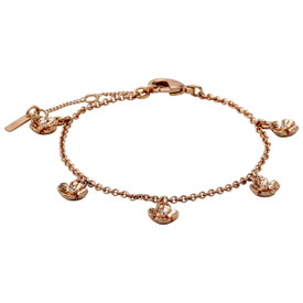 Pilgrim Bracelet : Isabel : Rose Gold Plated : Crystal Crystal 601814062