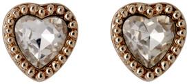 Pilgrim Stud Earrings Rose Gold Plated Crystal 621814033
