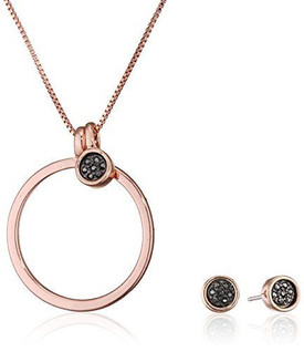 Pilgrim  Necklace + Stud Earrings Gift Set Rose Gold Plated 901734100
