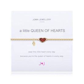 Joma A LITTLE  QUEEN OF HEARTS BRACELET  Gold  Plated + Gift Bag/Tag