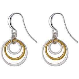Pilgrim Iona Drop Earrings  Silver/Gold Plated 641736043
