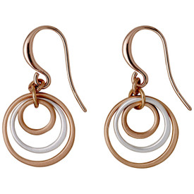 Pilgrim Iona Drop Earrings  Rose Gold/Silver Plated 641734043