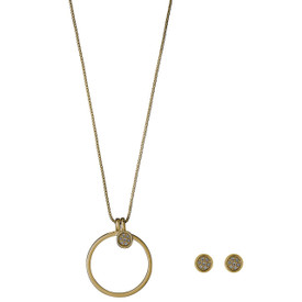 Pilgrim  Necklace + Stud Earrings Gift Set Gold Plated 901732000