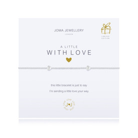 Joma A Little with Love Silver Plated Bracelet + Gift Bag & Tag