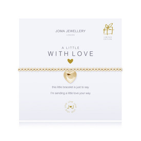 Joma A Little with Love Gold Plated Bracelet + Gift Bag & Tag
