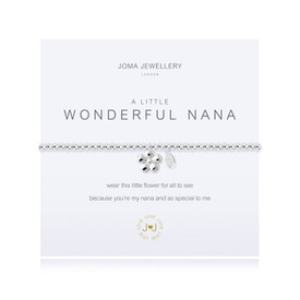 Joma Jewellery A Little Wonderful Nana Silver Plated  Bracelet + Gift Bag/Tag
