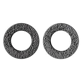 Pilgrim Hoop Stud Earrings Hematite Plated 281323003