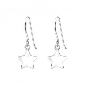 925 Sterling Silver Star Drop Earrings + Gift Bag