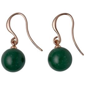 Pilgrim Iselda  Drop Earrings Rose Gold Plated Green 191734403