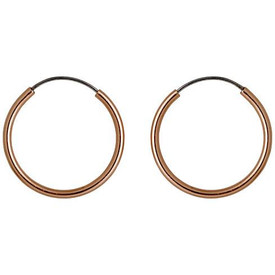 Pilgrim Hoop Earrings Rose Gold Plated 17mm Diameter 631714043