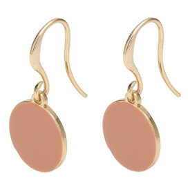 Pilgrim Enamel Circle Drop Earrings Gold Plated Nude 261822713