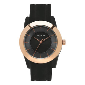 Pilgrim Black Watch Rose Gold Plated  901444104