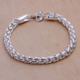 925 Sterling Silver Creative Twist Bracelet 6mm