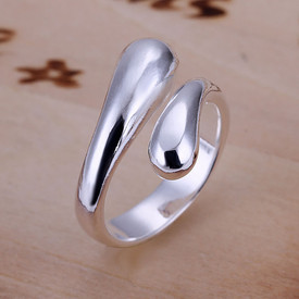 925 Sterling Silver Tear Drop Ring