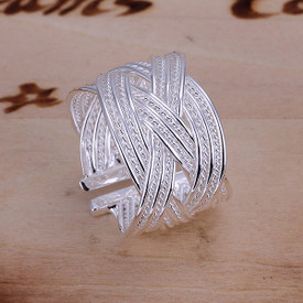 925 Sterling Silver Open Weave Ring