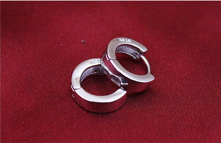 Bag 925 Sterling Silver Small Round Crystal Huggies//Hoops//Sleepers 12mm