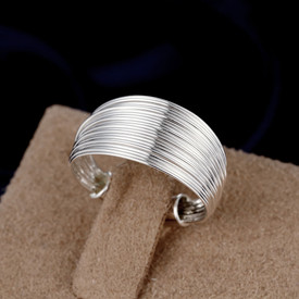 925 Sterling Silver Wire Shield Ring Adjustable