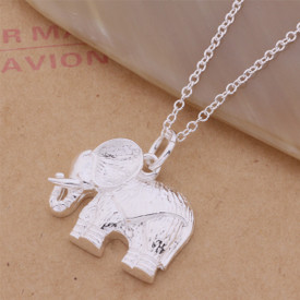925 Marked Sterling Silver Elephant Pendant Necklace 45cm
