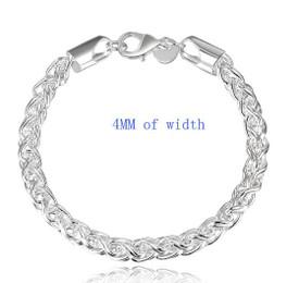 925 Sterling Silver Creative Twist Bracelet 4mm