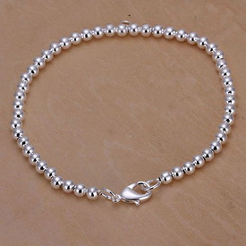 925 Sterling Silver Ball Bead Bracelet 20cm + Gift Bag