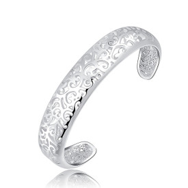 925 Sterling Silver Filigree Hollow Bangle/Bracelet 16cm + Gift Bag