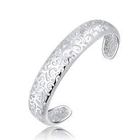 925 Sterling Silver Filigree Hollow Bangle/Bracelet 16cm + Gift Bag