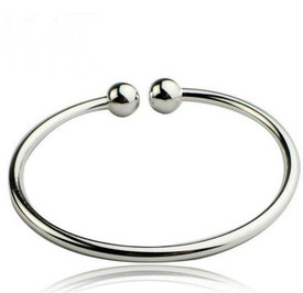 925 Sterling Silver Bangle Open Beads   + Gift Bag
