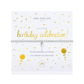 Joma Jewellery a little Birthday Celebration Bracelet  + Gift Bag/Tag