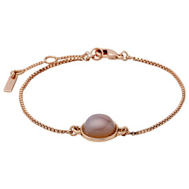 Pilgrim Bracelet Rose Gold Plated Grey 17cm + 3cm  601814122