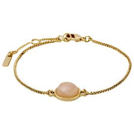 Pilgrim Bracelet Gold Plated Pink 17cm + 3cm  601812722